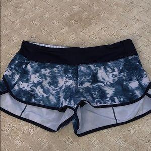 lululemon athletica Shorts - Rare lululemon Blue tie dye shorts